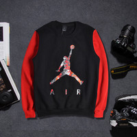 On Sale Hot Deal Round-neck Hoodies Casual Sports Pullover Tops Cotton Basketball [9302716039]