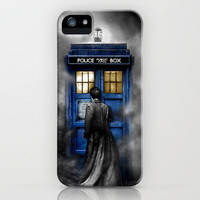 Tardis Doctor Who With David tennant In The Cloud iPhone 5, 4 4s, 3g 3gs Case by pointsalestore
