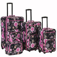 Rockland Luggage Set 4pc Pucci Floral Print Expandable Rolling Suitcase F108