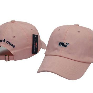 DCCKUNT Pink Vine yard Vines Whales Embroidered Cotton Hat Baseball Cap