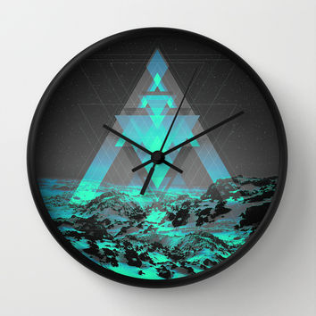 Neither Real Nor Imaginary II Wall Clock by Soaring Anchor Designs