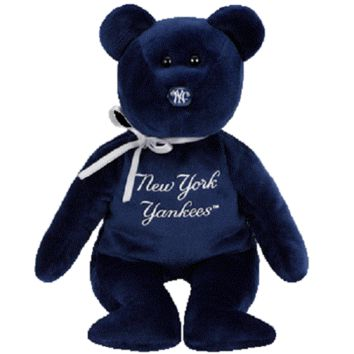TY Beanie Baby - MLB Baseball Bear - NEW YORK YANKEES (8.5 inch)
