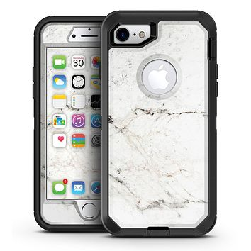 White Grungy Marble Surface - iPhone 7 or 7 Plus OtterBox Defender Case Skin Decal Kit