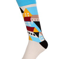 White House Print Socks