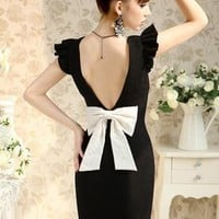 Backless Bowknot Dress