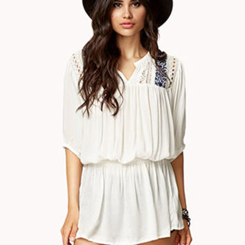 Crocheted Peasant Tunic | FOREVER 21 - 2060242091