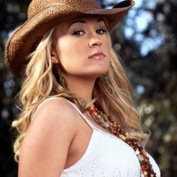 Carrie Underwood Sassy Cowboy Hat Metal Print 8in x 12in