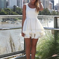 ELIXIR FRILL DRESS , DRESSES, TOPS, BOTTOMS, JACKETS & JUMPERS, ACCESSORIES, SALE 50% OFF , PRE ORDER, NEW ARRIVALS, PLAYSUIT, GIFT VOUCHER,,White Australia, Queensland, Brisbane