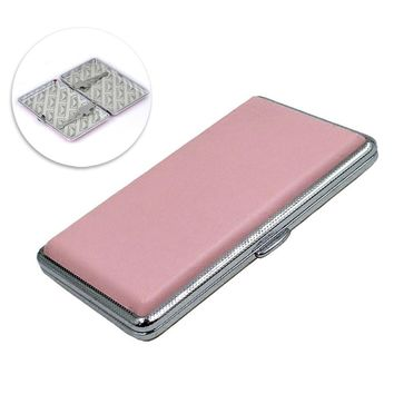 Pink Leather Cigarette Cases For Women Cigar Case Woman Cigarette Box Case Presents For Men Tobacco Pouch sigaretten doosje