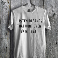 Funny Band Quote Tee - 4Lf Unisex Tees For Man And Woman / T-Shirts / Custom T-Shirts / Tee / T-Shirt