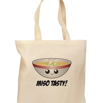 Miso Tasty - Cute Miso Soup Bowl Grocery Tote Bag by TooLoud