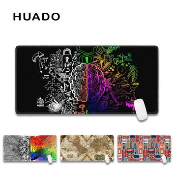 Black brain pattern mouse pad gaming mouse mat big mousepad desk rug mats for lol surprise/dota/dark souls/overwatch/the witcher