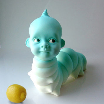 wormbaby caterpillar baby sculpture unusual figurine