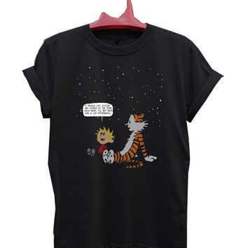 Calvin & Hobbes quotes T-Shirt Men, Women and Youth size S-2XL