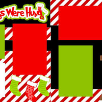 The Stockings Were Hung Premade 2-page 12 X 12 Scrapbooking Page Layout or Page Kit