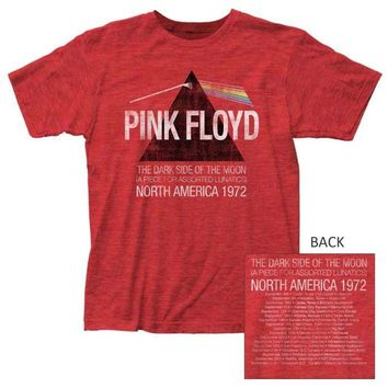 Pink Floyd Dark Side Lunatics Exclusive Heather Red T-Shirt