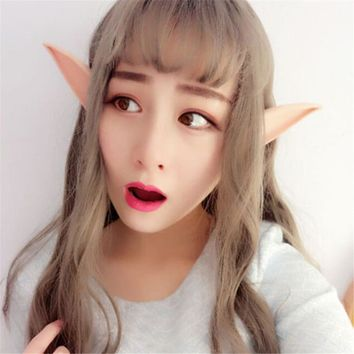 2pcs/set 10cm 12cm holiday DIY decoration rubber cute skin color soft elf ears cosplay long ear for party halloween accessories