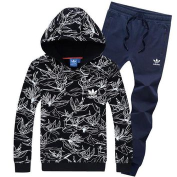 NOV9O2 Adidas Top Sweater Pullover Hoodie Pants Trousers Set Two-Piece Sportswear-3