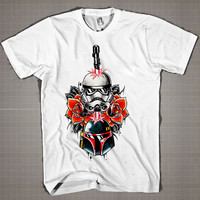 STAR WARS Stormtrooper with Blade  Mens and Women T-Shirt Available Color Black And White