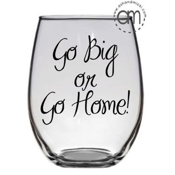 Game Day Wine Glass, Funny Wine Glass, Wine Gift