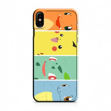 Bulbasaur Squirtle And Charmander Pikachu iPhone X Case