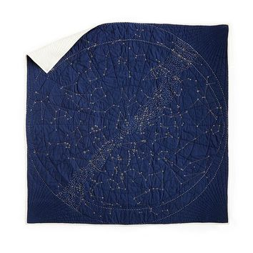Constellation Quilt | zodiac gifts, unique quilt, cozy blanket, star design