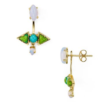 Jules SmithAxel Cabochon Front-Back Earrings