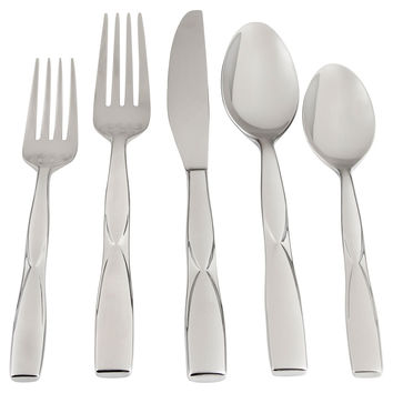 20-Pc Scarlet Mirror Stainless Steel Set, Flatware Place Settings