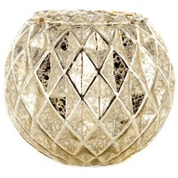 Geometric Mercury Glass Roly Poly Candle Holder | Hobby Lobby