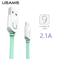 USAMS 2.1A Flat Fast Charging Lighting Cable