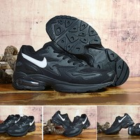 HCXX 19Sep 926 Nike Air Max 2 Light Black and White AO1741-001 Sneakers Mesh Runnning Shoes
