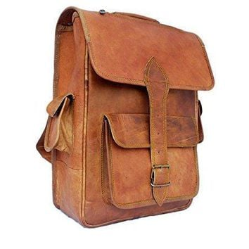 IN INDIA Modern Sleek Finish Pure Leather Hunter Satchel Professional Regular Use Bag - Fits Laptop Upto 15.6 Inches