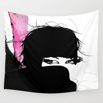 Demure Wall Tapestry by Allison Reich
