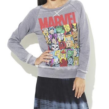 Marvel Burnout Sweatshirt - WetSeal