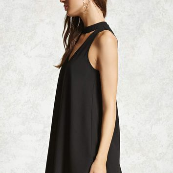 V-Cutout Swing Dress