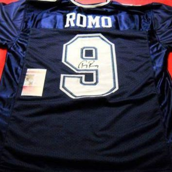 ESBONY Tony Romo Signed Autographed Dallas Cowboys Football Jersey (JSA COA)