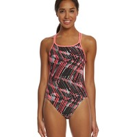 Nike Women's Shark Spiderback Tank One Piece Swimsuit at SwimOutlet.com - Free Shipping