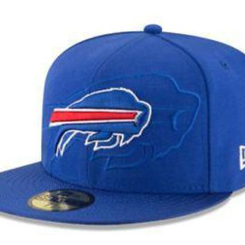 Buffalo Bills Hat Fitted Men's 59FIFTY Official Sideline Blue New Era