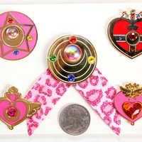 Sailor Moon Compact Metal Pins