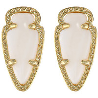 Kendra Scott Skylette Earring Gold White Mother of Pearl - Zappos.com Free Shipping BOTH Ways