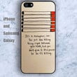 it s a metaphor iPhone 5/5S case Ipod Silicone plastic Phone cover Waterproof