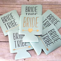 Bachelorette Party Favor - Bride Tribe - Party Decor - Bridesmaid Gift - Personalized Can Sleeve - Party Favor - Wedding Favors