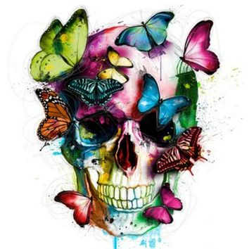 Diamond Painting Crystal Craft Picture Kit Butterfly Skull Art Painting Modern Resin Sewing