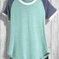 Color Block Tee - Mint