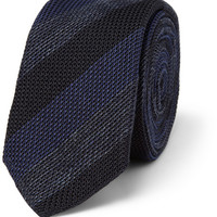 Burberry London Knitted Cotton and Silk-Blend Tie   MR PORTER
