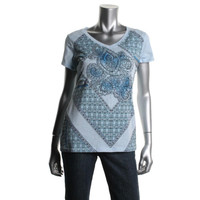 Style & Co. Womens Cotton V-Neck Casual Top