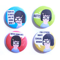 Tina Belcher Button or Magnet Set