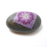Purple Haze / Painted stone by circle and the dot