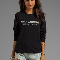 what about yves Ain't Laurent Without Yves in Black from REVOLVEclothing.com