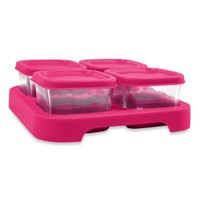 green sprouts® by i play.® Set of 4 Glass Food 2 oz. Storage Cubes in Pink